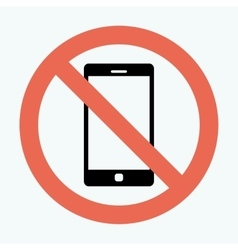 No cell phone sign vector