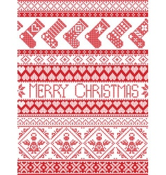 Seamless xmas pattern with stockings vector