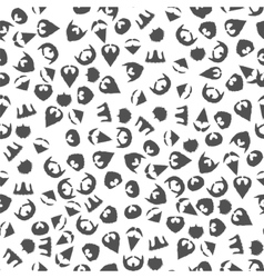 Beard Mustache Silhouette Seamless Pattern vector image