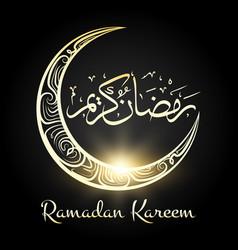 Ramadan kareem religious night moon background vector