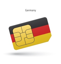 Germany mobile phone sim card with flag vector
