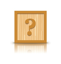 Question mark wooden alphabet block vector