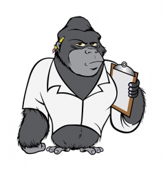 Gorilla lab suit vector