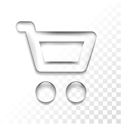 Transparent shop vector