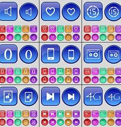 Sound Heart Countdown Zero Smartphone Cassette vector image