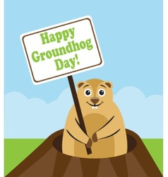 Happy groundhog day vector