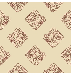 Pattern with symbol of the maya night lord vector