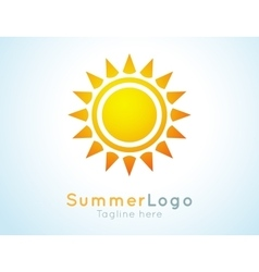 Summer logo label summer icon vector