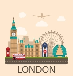 Design poster for travel of england vector