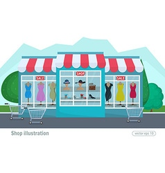 A clothing store colorful decorative shop and vector