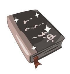 Ancient magic spell book icon in cartoon style vector