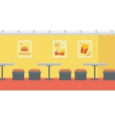 Background of fast food restaurant vector