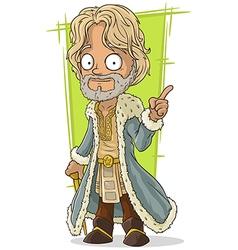 Cartoon lord in rich dress vector