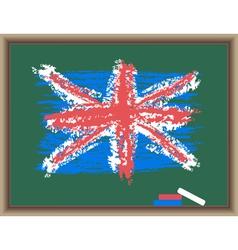 Chalk flag of england vector