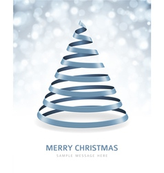 Christmas tree from ribbon background vector image vector image