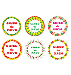 Cinco de mayo set of round frames with space for vector