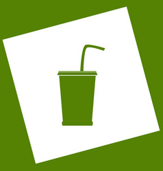 Drink sign white icon vector