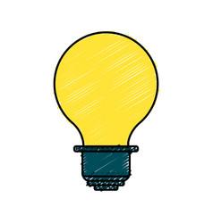 Energy light bulb icon vector