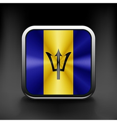 Flag of the country barbados exact colors vector