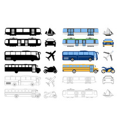 flat urban transport icon cartoon outline vector image vector image