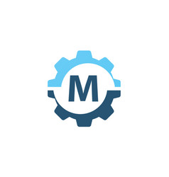 Gear solution logo initial m vector