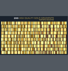Goldgolden gradientpatterntemplateset of vector