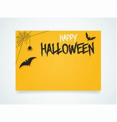 happy halloween poster halloween bat under the vector image