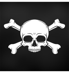 Human evil skull on black background Jolly vector image vector image