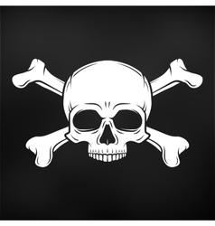 Human evil skull on black background Jolly vector image vector image