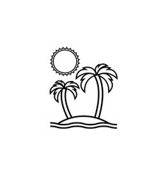 island line icon travel tourism vector image