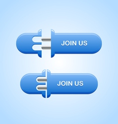 Join us button vector