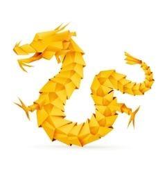 Origami dragon orange vector image vector image