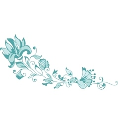 Ornate Corner with flowers vector image vector image