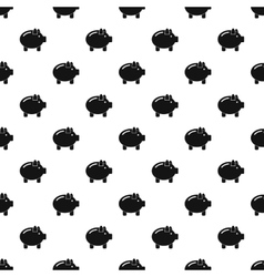 Piggy pattern simple style vector image