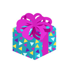 Present with posh bow pattern vector
