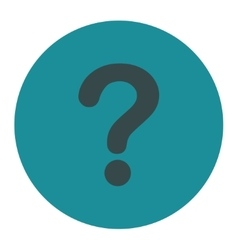 Question flat soft blue colors round button vector