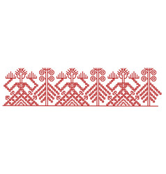red finnish ornament design elements vector image