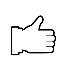 Thumbs up Human hand icon Gesture design vector image vector image