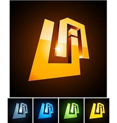 UA vibrant emblems vector image