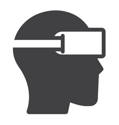 virtual reality glasses solid icon game vector image vector image