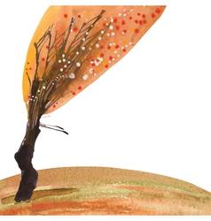 watercolor tree vector image vector image