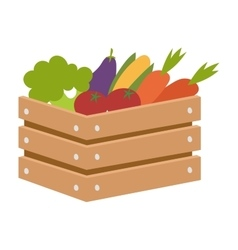 Vegetable box vector