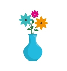 Flower pot floral decoration icon graphic vector