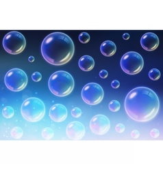 Transparent multicolored soap bubbles background vector