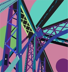 Bridge scene vector