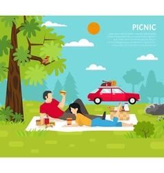 Outdoor picnic vector