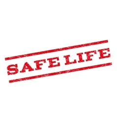 Safe life watermark stamp vector