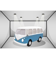 A bus in the garage vector