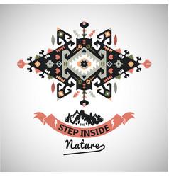 Colorful tribal navajo style ornamental vector