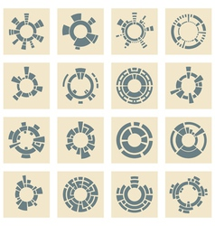 Collection of different graphic elements vector image